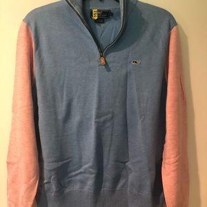 Boy's Vineyard Vines 1/4 zip pullover sweater- Med